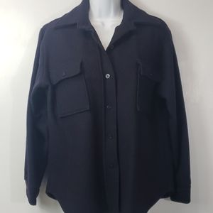 Vintage Carol Brent blue wool button up shirt